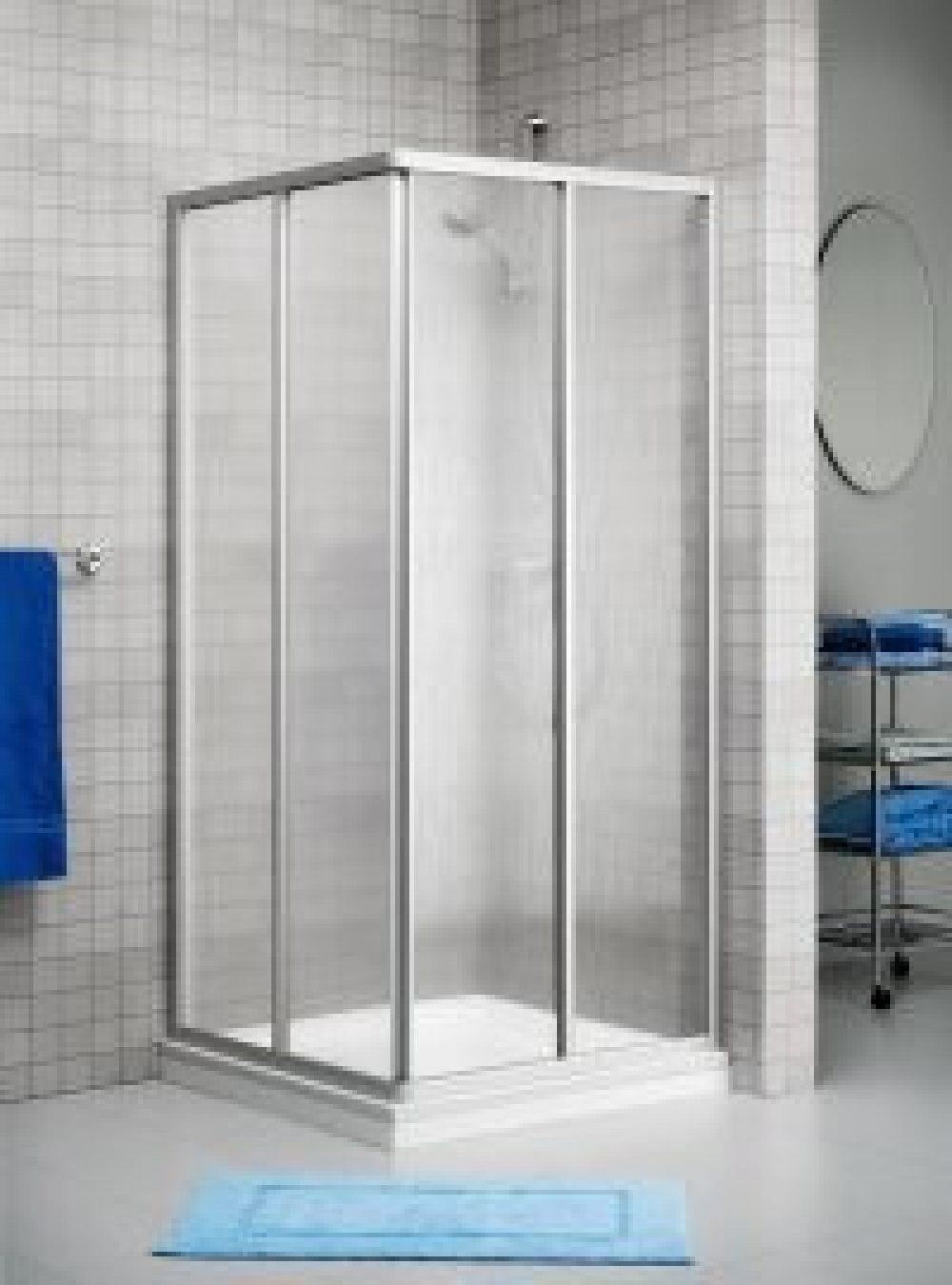 Duka Prima 2000 Glass Cabina Ad Angolo Box 90x75 Commerciale