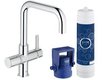 GROHE Blue  Pure miscelatore per lavello con sistema filtrante